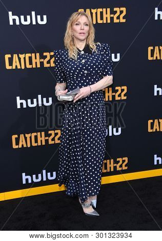 LOS ANGELES - MAY 07:  Courtney Love arrives for the Hulu's 'Catch-22' US. Premiere on May 07, 2019 in Hollywood, CA