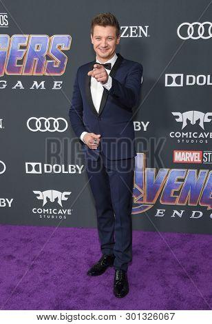 LOS ANGELES - APR 22:  Jeremy Renner arrives for the