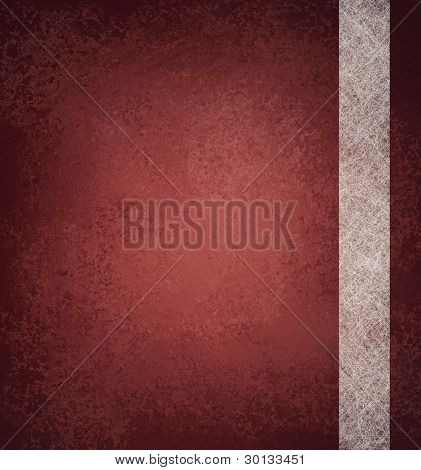 Red Background With White Parchment Ribbon