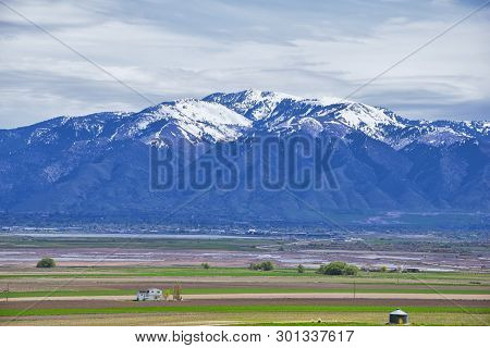 Tremonton And Logan Valley Landscape Views From Highway 30 Pass, Including Fielding, Beaverdam, Rive
