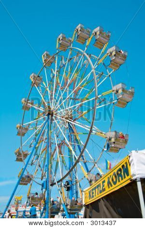 Ferris Wheel And Kettle Korn Booth