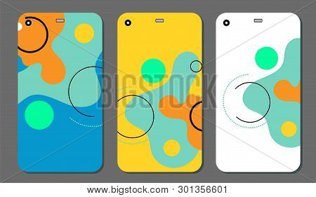 Set Fashionable Abstract Ornaments For Mobile Phone Cover And Screen . The Visible Part Of The Clipp