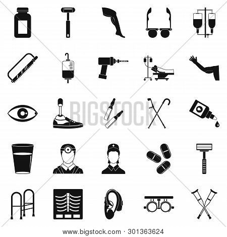 Cripple Icons Set. Simple Set Of 25 Cripple Icons For Web Isolated On White Background