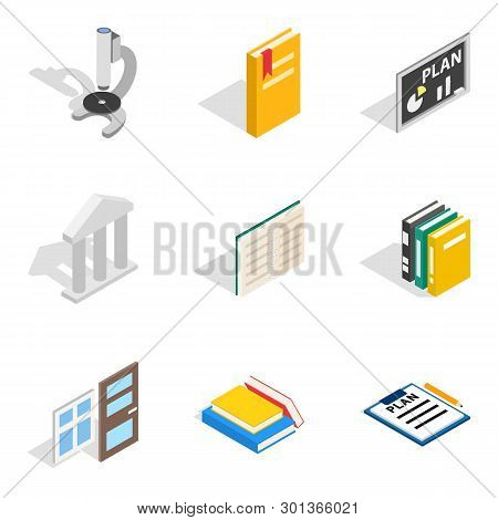 Magistrate Icons Set. Isometric Set Of 9 Magistrate Icons For Web Isolated On White Background