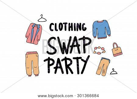 Clothing Swap Party Vector & Photo (Free Trial) | Bigstock