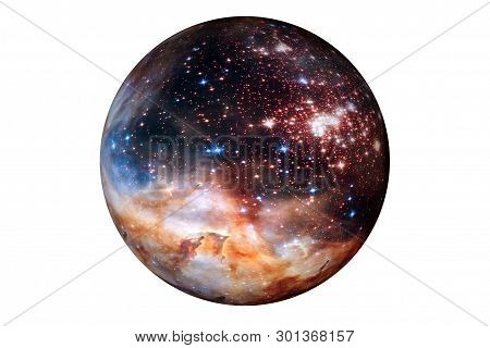 Fantastic Star Planet, Isolated On White Background. Elements Of This Image Were Furnished By Esa-hu