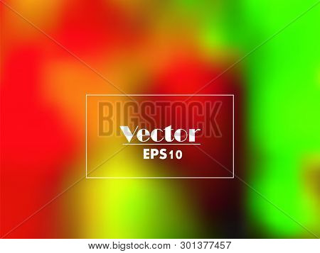 Colorful Gradient Mesh Background In Bright Rainbow Colors. Abstract Blurred Smooth Image. Easy Edit