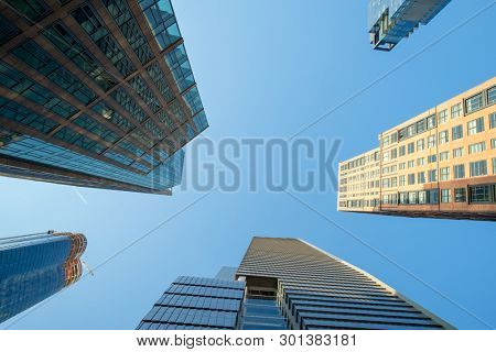 An image of some New York high rise buildings