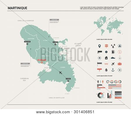 Capital Of France Map.Vector Map Martinique Vector Photo Free Trial Bigstock