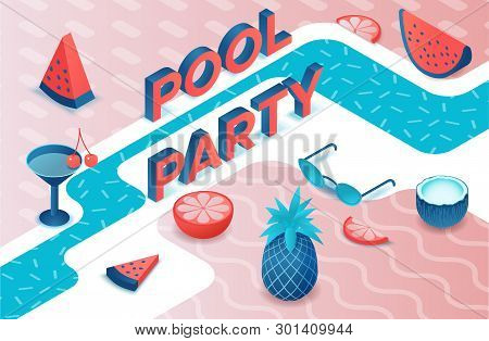 Pool Party 3d Vector & Photo (Free Trial) | Bigstock