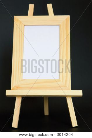 Blank Picture Sitting On Easel - Vertical