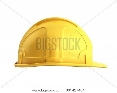 Hard Hat Background Construction Tools 3d Render On White No Shadow