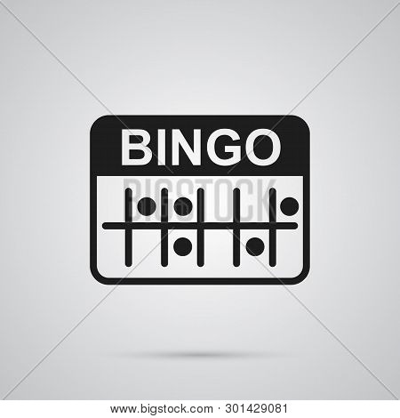 Isolated Bingo Icon Symbol On Clean Background.  Lotto Element In Trendy Style.
