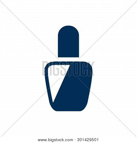 Isolated Varnish Icon Symbol On Clean Background. Vector Nail Polish Element In Trendy Style.