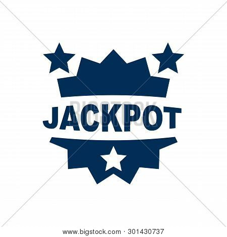 Isolated Jackpot Icon Symbol On Clean Background.  Win Element In Trendy Style.