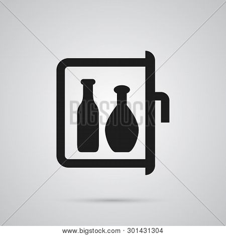 Isolated Minibar Icon Symbol On Clean Background.  Chiller Element In Trendy Style.