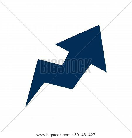 Isolated Trend Icon Symbol On Clean Background.  Arrow Element In Trendy Style.