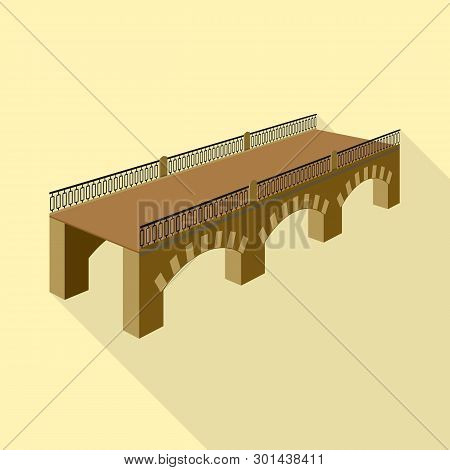 Vector Design Of Bridge And Relocation Logo. Collection Of Bridge And Column Stock Symbol For Web.