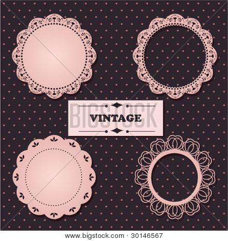 Vintage lace frames.