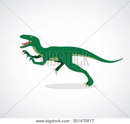 Velociraptor Cartoon - Vector Illustration - Vector