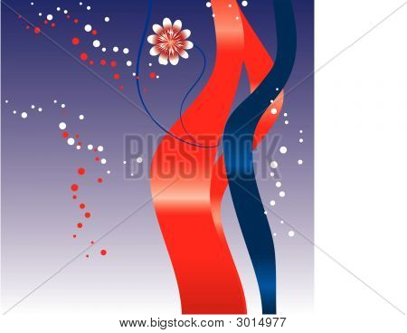 Fourth of July abstract background designed in Illustrator. Vector format can be enlarged to any size. poster
