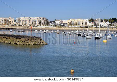 Port of Pornichet in France