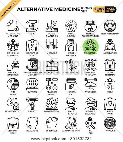 Alternative Medicine Concept Icons