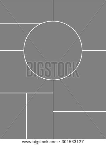 Collage Photo Frame Template For Images Montage