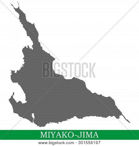 High Quality Map Of Miyako-jima Is The Island Of Japan