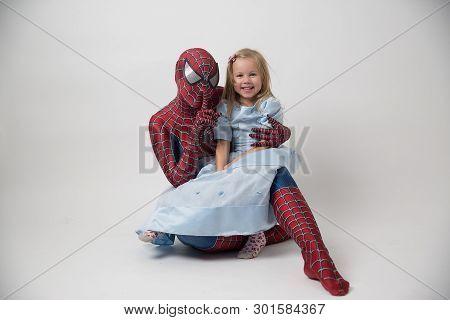 Israel, Tel Aviv 30. 11. 2018: Super Hero Spiderman In Shop. Spider-man Is A Fictional Superhero