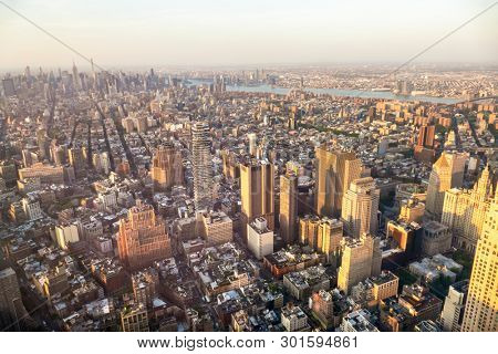 An image of Manhattan New York from above