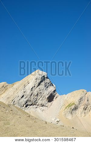 Peaks in Gavarnie Valley, Pyrenees in France.