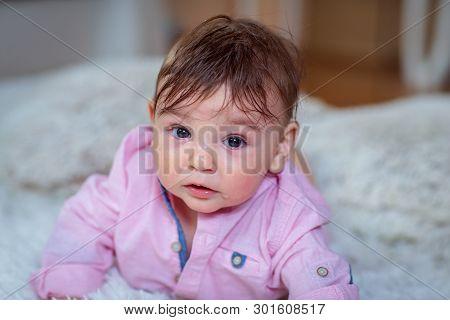 Cute Baby Boy, Cheerful Little Baby Boy