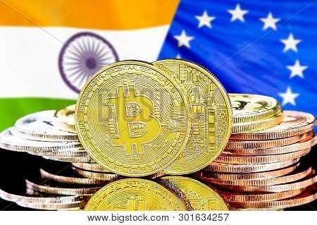 Concept For Investors In Cryptocurrency And Blockchain Technology In The India And European Union. B