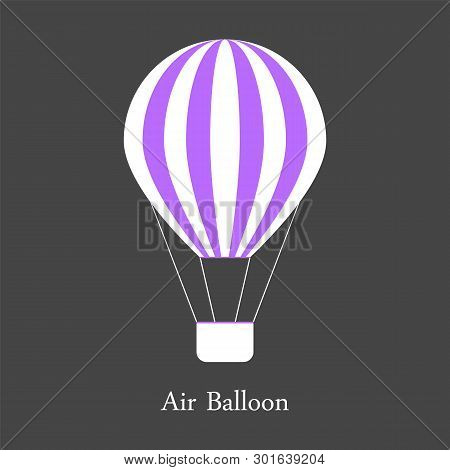Hot Air Baloon Isolated On Grey Vector Illustration Eps10