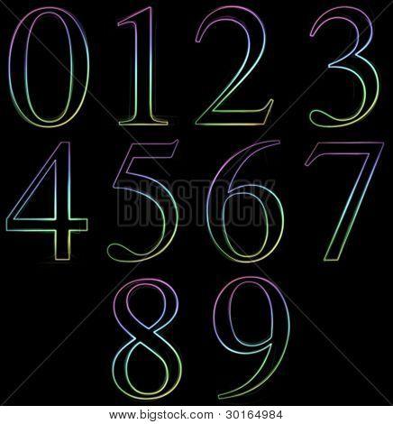 Neon Number