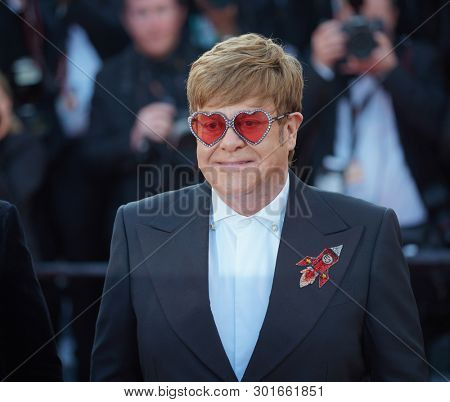Elton John attends the screening of