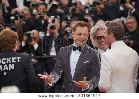 Richard Madden, Taron Egerton, Elton John attend the screening of