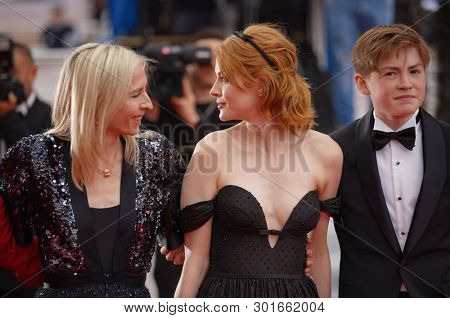 Jessica Hasuner, Emily Beecham and Kit Connor attend the screening of