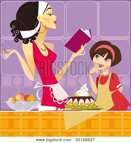 dos pasteleros (madre e hija)