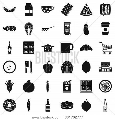 Luncheon Icons Set. Simple Set Of 36 Luncheon Icons For Web Isolated On White Background