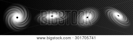 Creative Vector Illustration Of Realistic Hurricane Cyclone Wind, Tropical Typhoon Spiral Storm, Spi