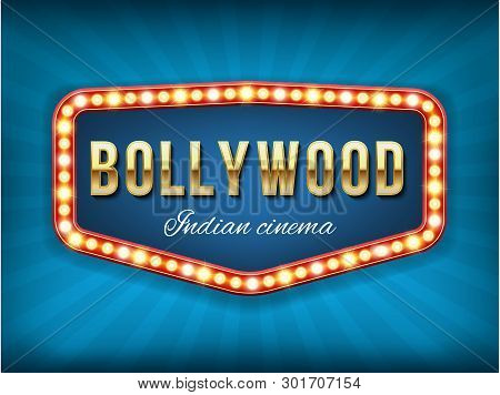 Creative Vector Illustration Of Bollywood Cinema Background. Art Design Indian Movie, Cinematography