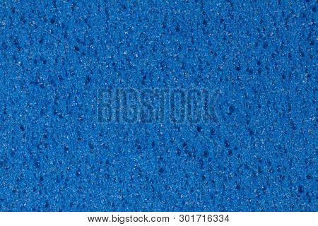 Blue Ethylene Vinyl Acetate Foam Texture With Porosity.