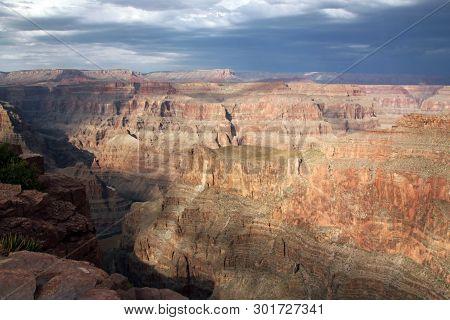 Scenic Grand Canyon West View, Arizona, Usa