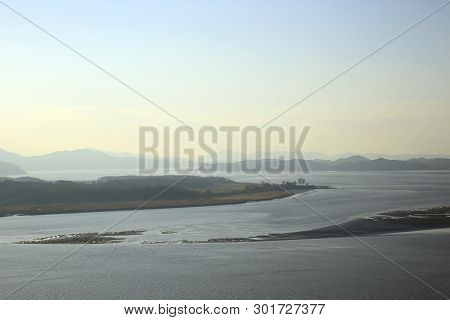 Han River, With South Korea To The Left And North Korea To The Right