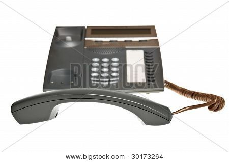 telephone receiver off the hook