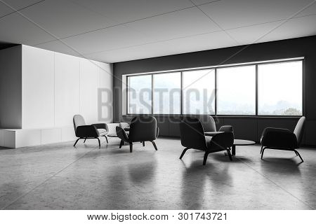 White And Gray Office Lounge Corner