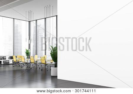 Mock Up Wall Near Office Meeting Room