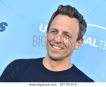 LOS ANGELES - MAY 17:  Seth Meyers arrives for the 'Late Night with Seth Meyers' FYC on May 17, 2019 in North Hollywood, CA